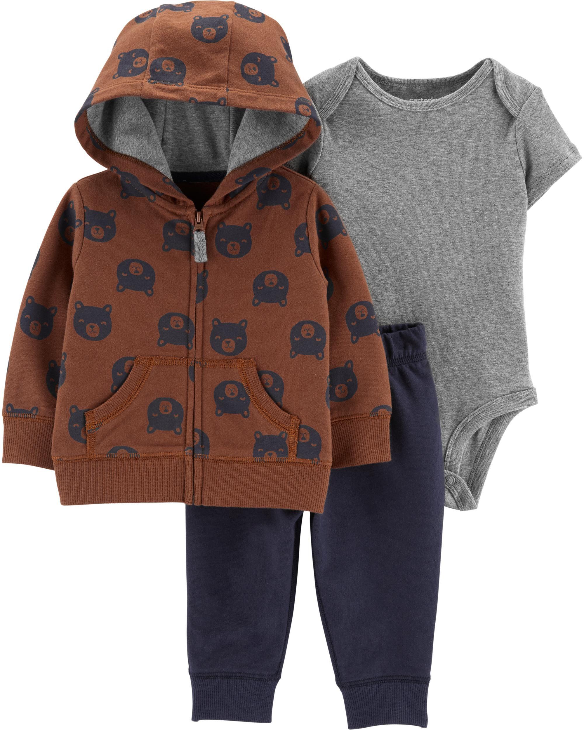 *CLEARANCE* 3-Piece Bear Little Jacket Set