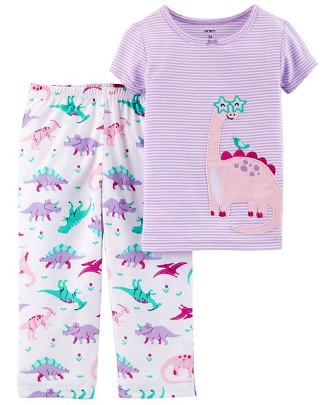 0c6391a20 2-Piece Dinosaur Cotton   Poly PJs