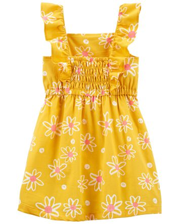 size 2T Girl party dress orange floral print