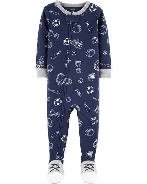 1-Piece Sports Snug Fit Cotton PJs
