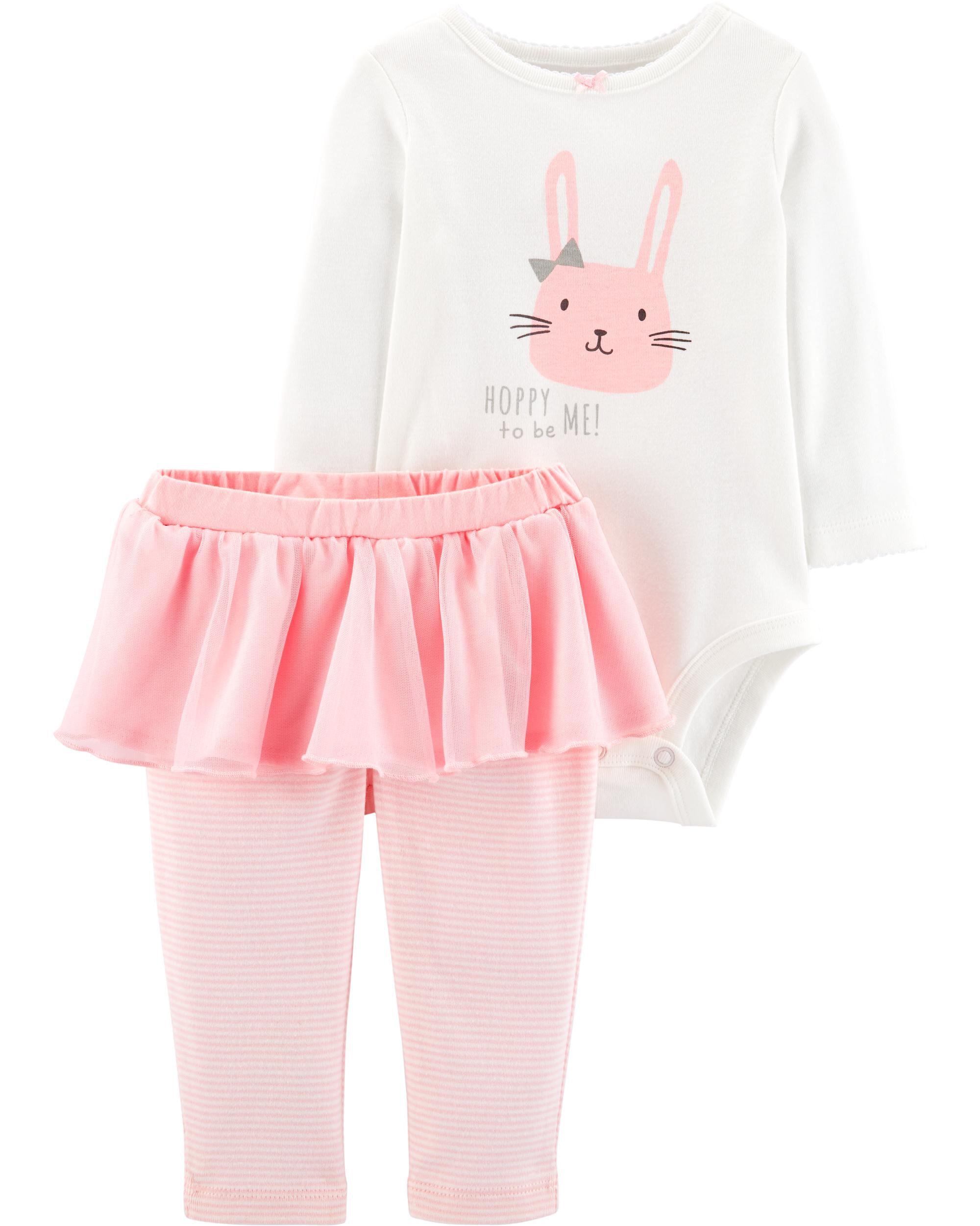 aa23d7aa6 2-Piece Bunny Bodysuit   Tutu Pant Set