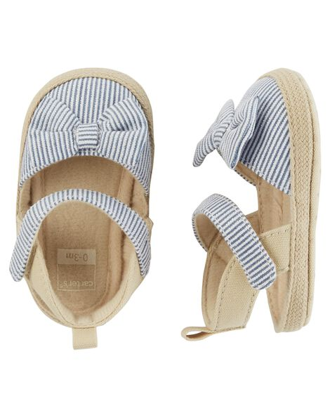 Carter's Striped Espadrille Baby Shoes | Carters.com