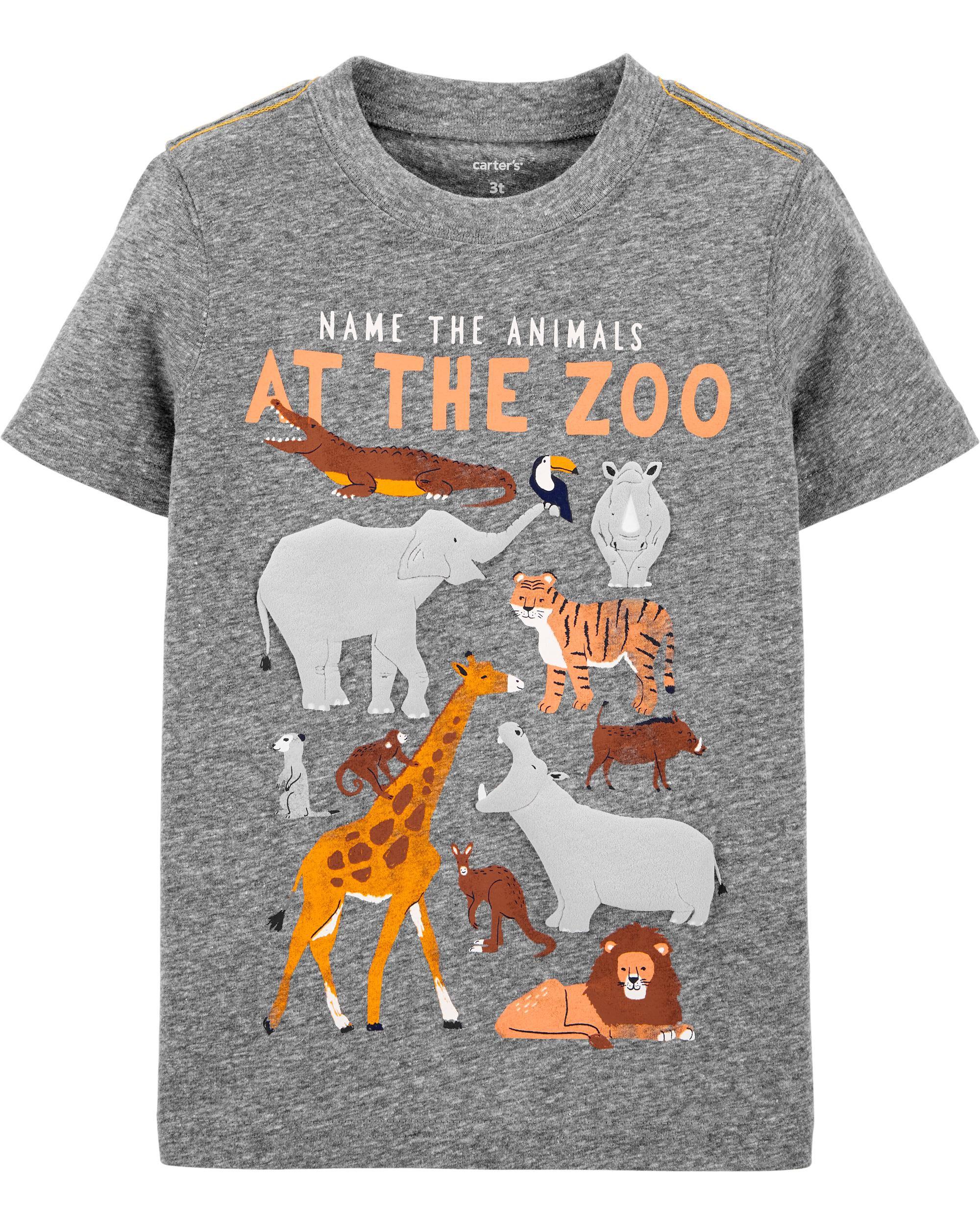 *CLEARANCE* Zoo Animals Snow Yarn Jersey Tee