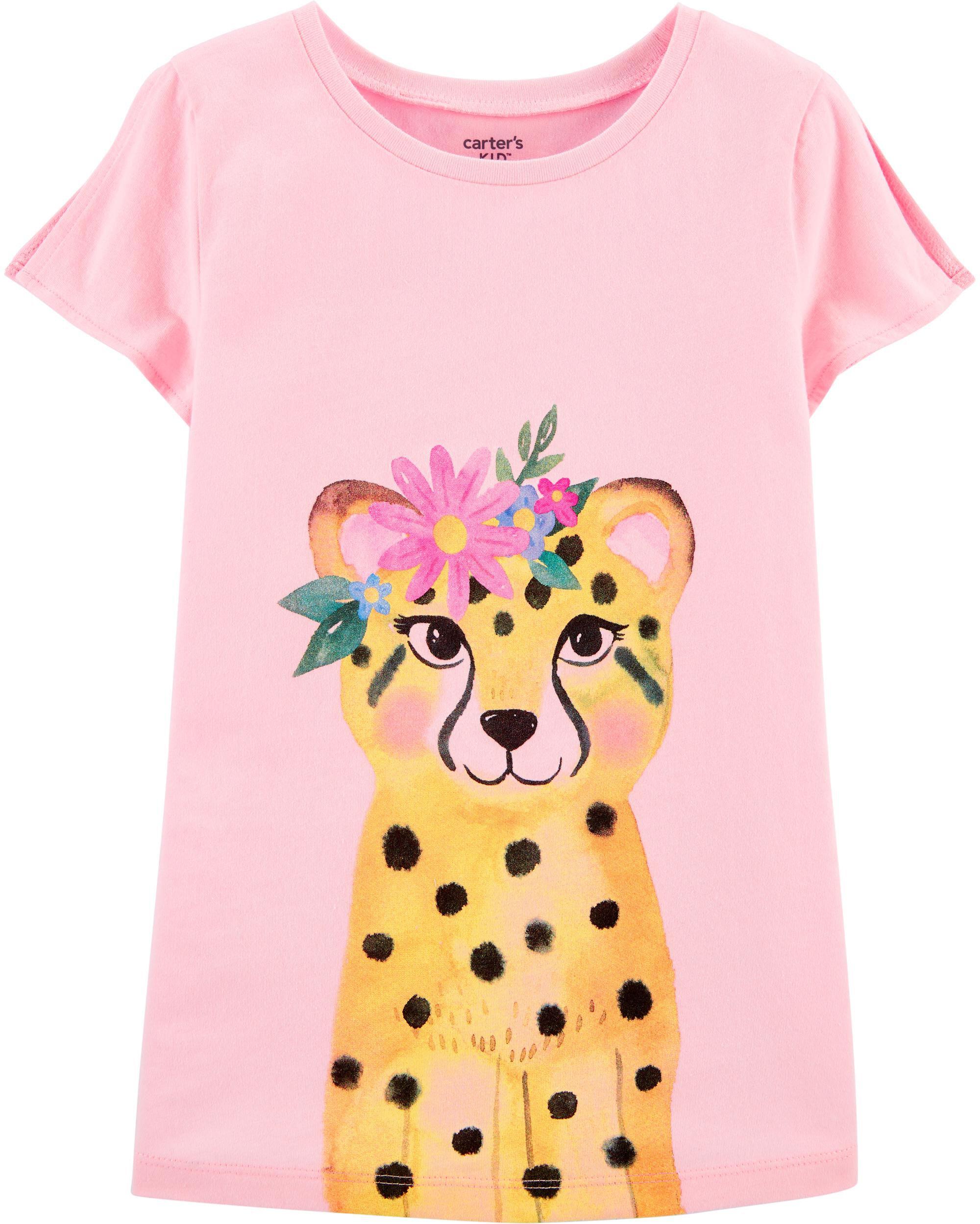 Sloth Kids Girls Short Sleeve Ruffles Shirt Tee for 2-6T