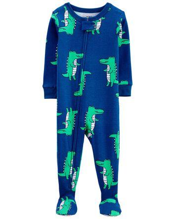 New Carter/'s Husky Fleece Pajama Footie Sleeper Toddler Boy Gray 1pc