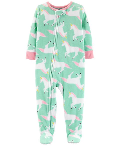 12eaaafb6295 1-Piece Unicorn Fleece PJs