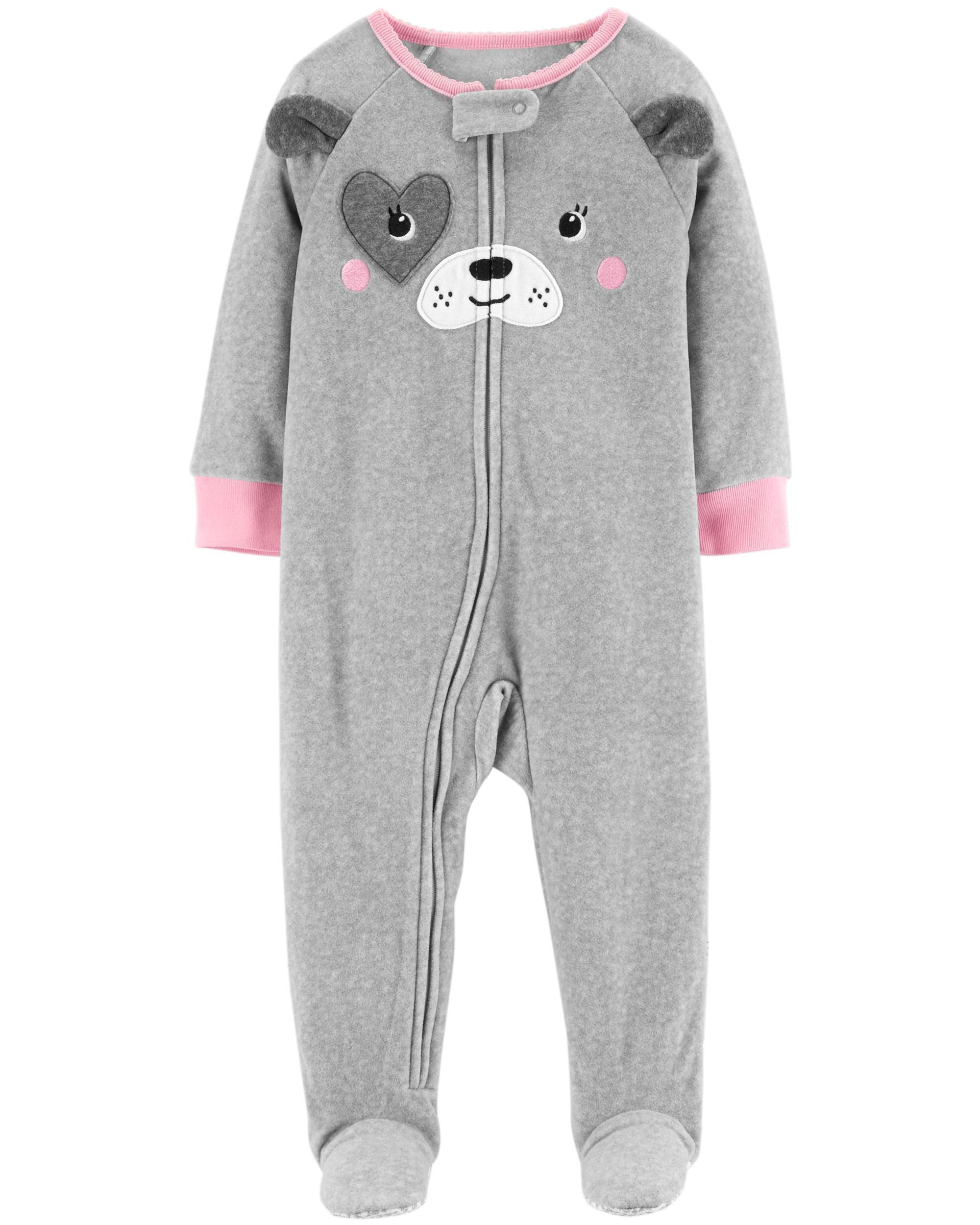 d94e01df08f1 1-Piece Dog Fleece PJs