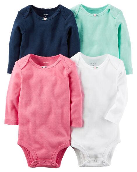 4-Pack Long-Sleeve Original Bodysuits  072367239