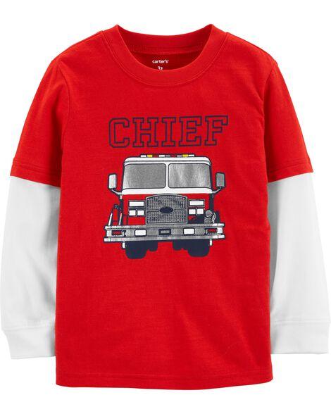 Chief Firetruck Layered Look Tee