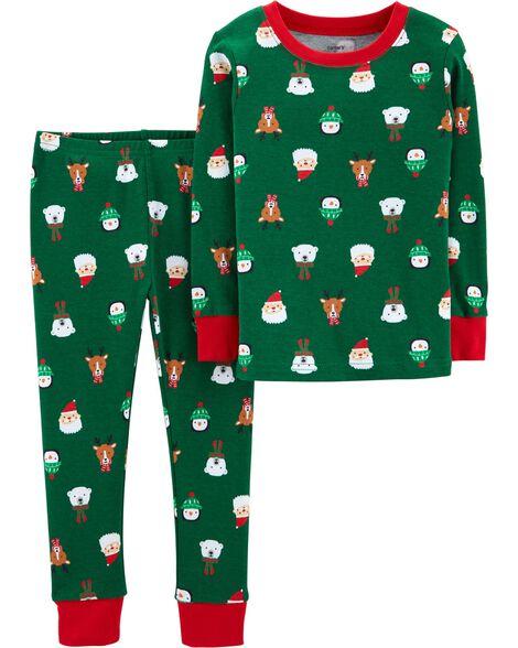 a39efbd1e3 2-Piece Baby Christmas Snug Fit Cotton PJs ...