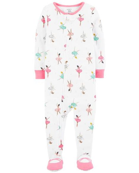 efb270e0175b 1-Piece Ballerina Snug Fit Cotton PJs