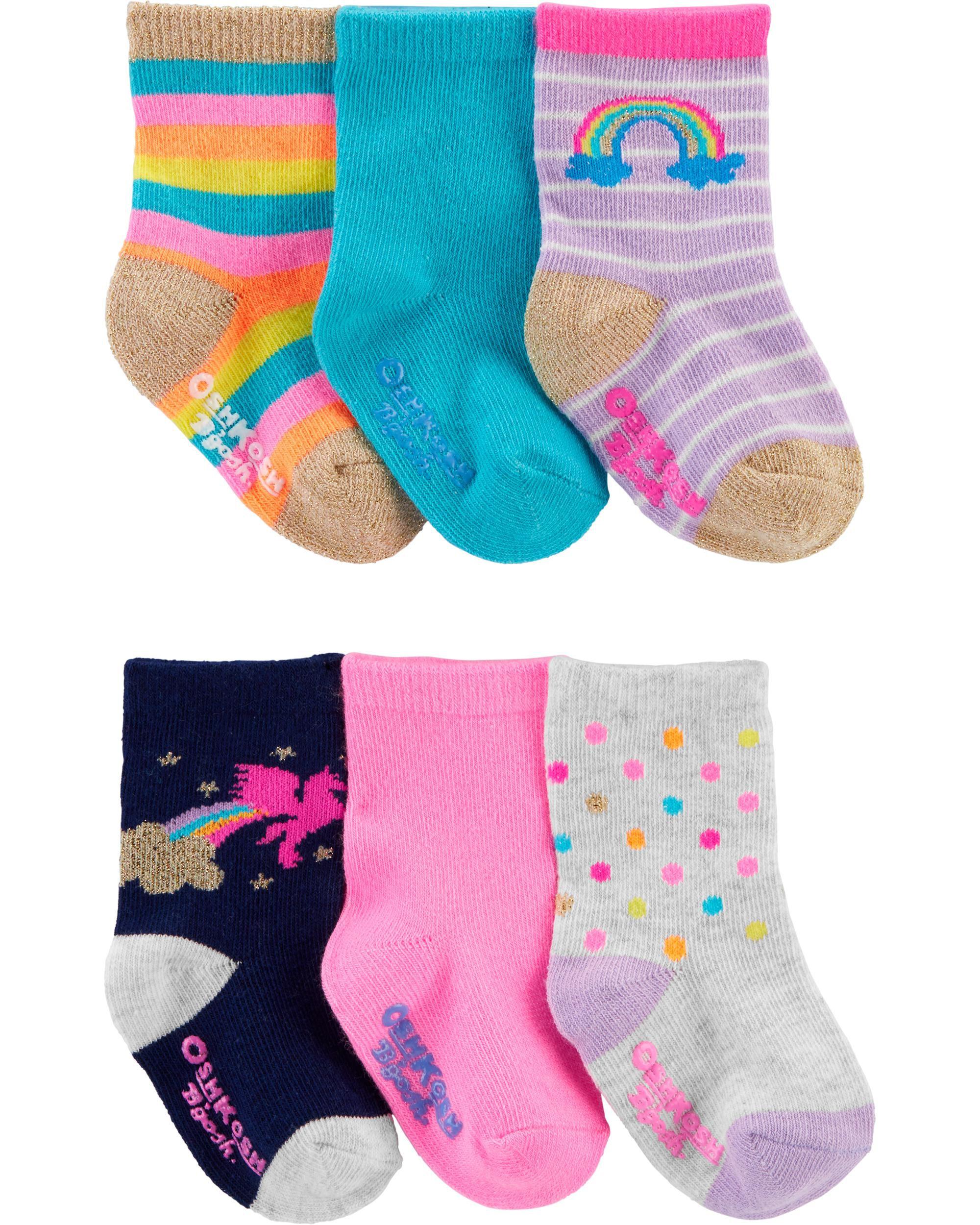 New Girl/'s Carter/'s 4 Pack Socks Heart /& More