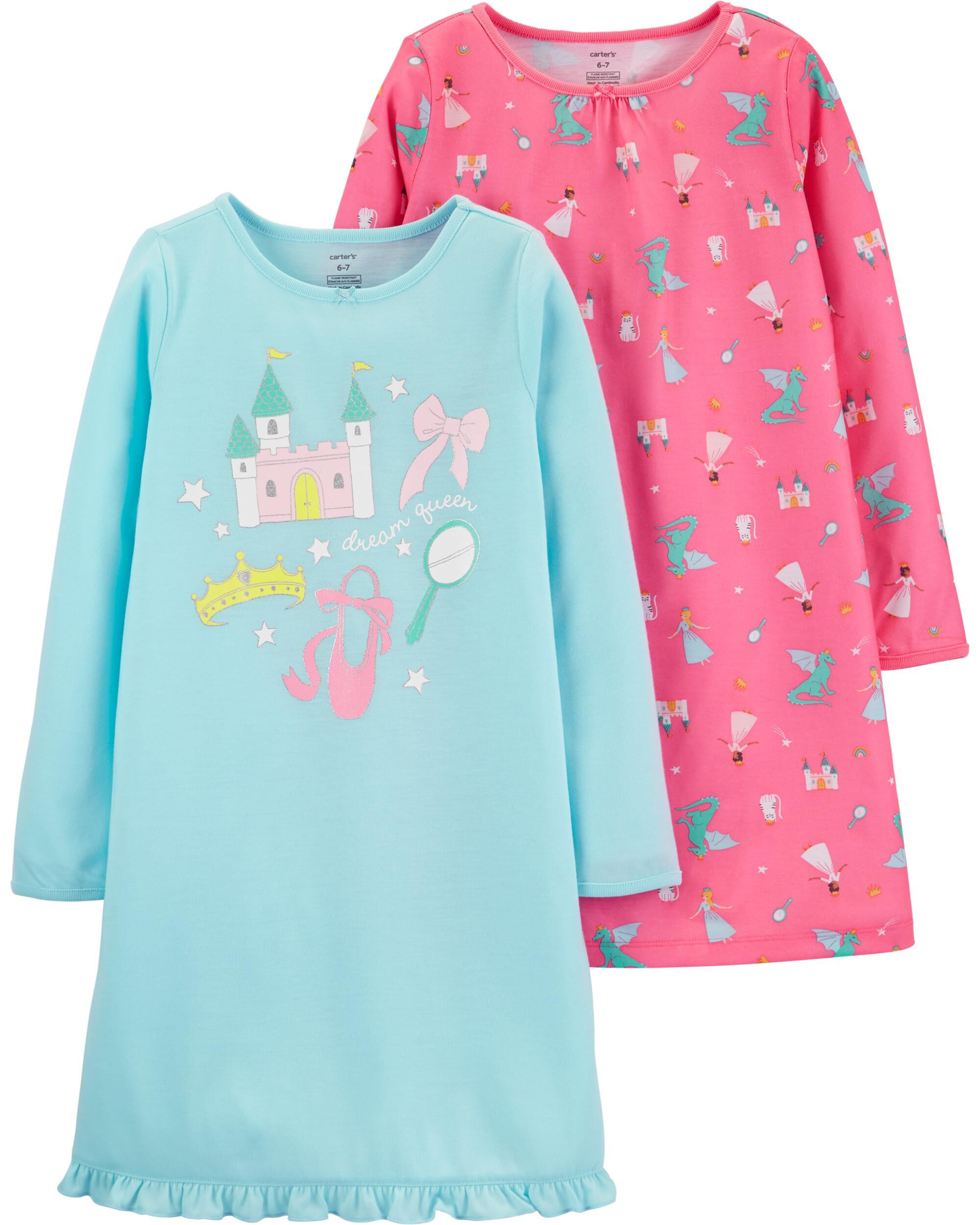 2-Pack Princess Nightgowns