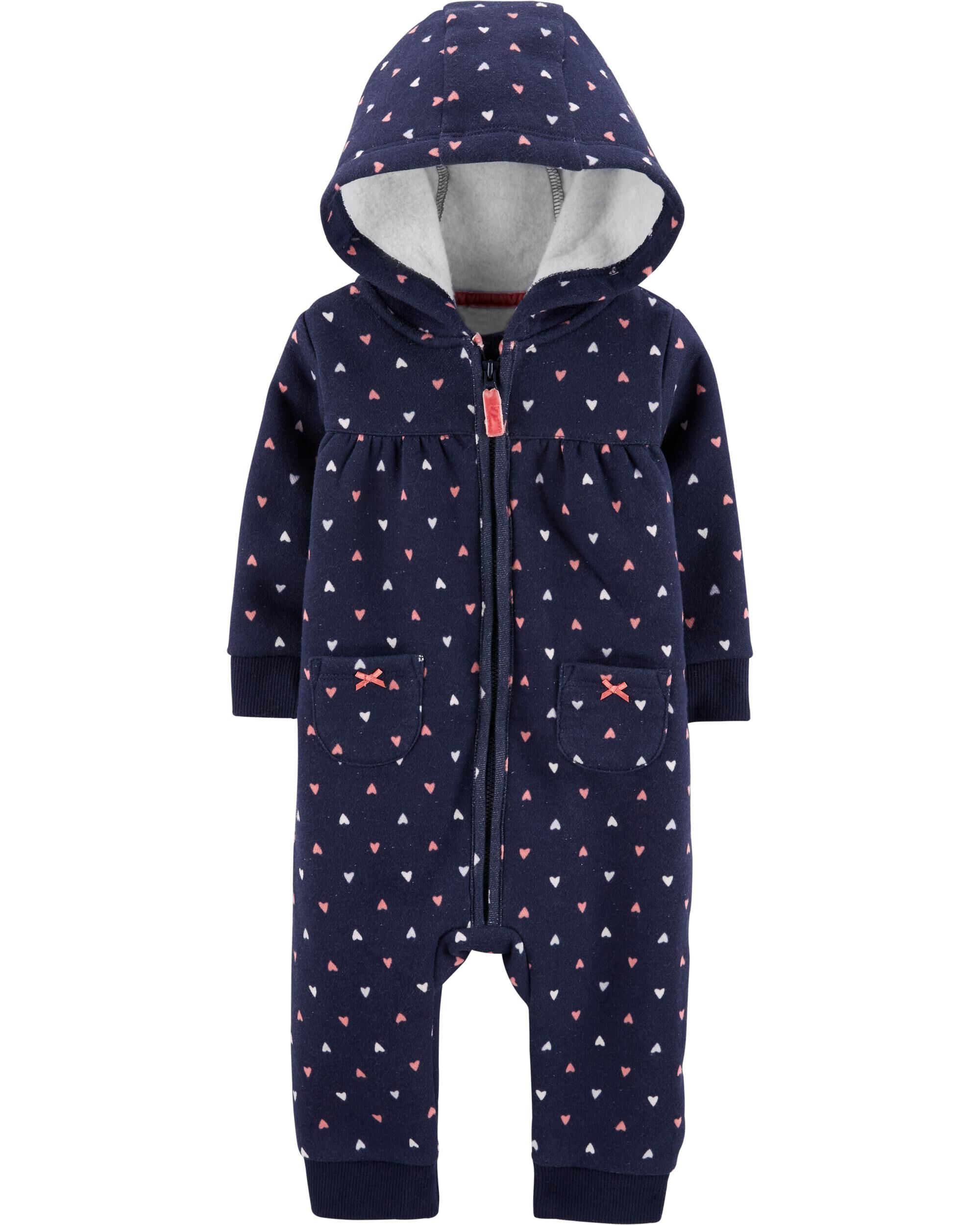 *CLEARANCE* Hooded Heart Jumpsuit