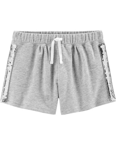 Sequin Pull-On French Terry Shorts