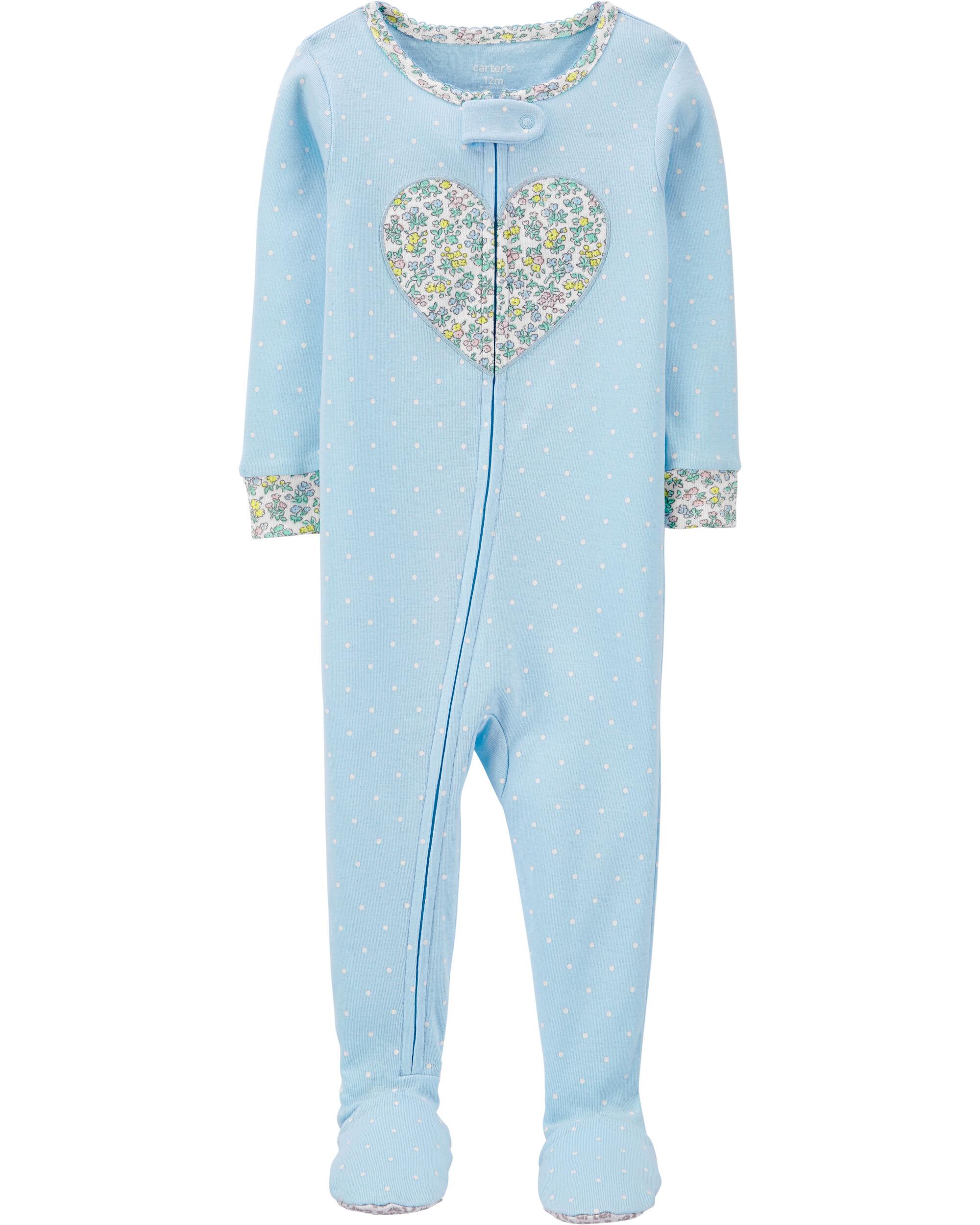 *DOORBUSTER* 1-Piece 100% Snug Fit Cotton Footie PJs