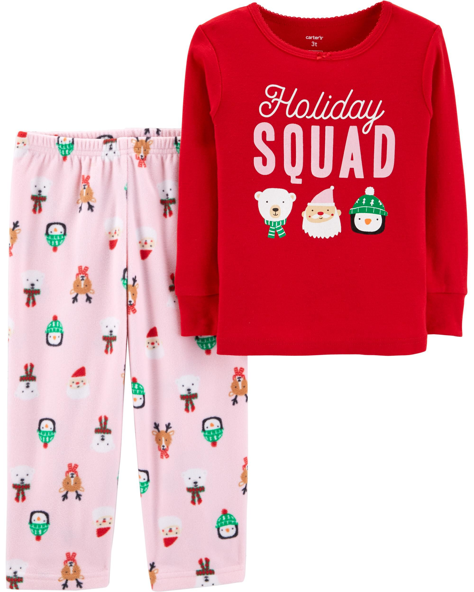 2 piece toddler christmas cotton fleece pjs loading zoom - Christmas Pjs Toddler