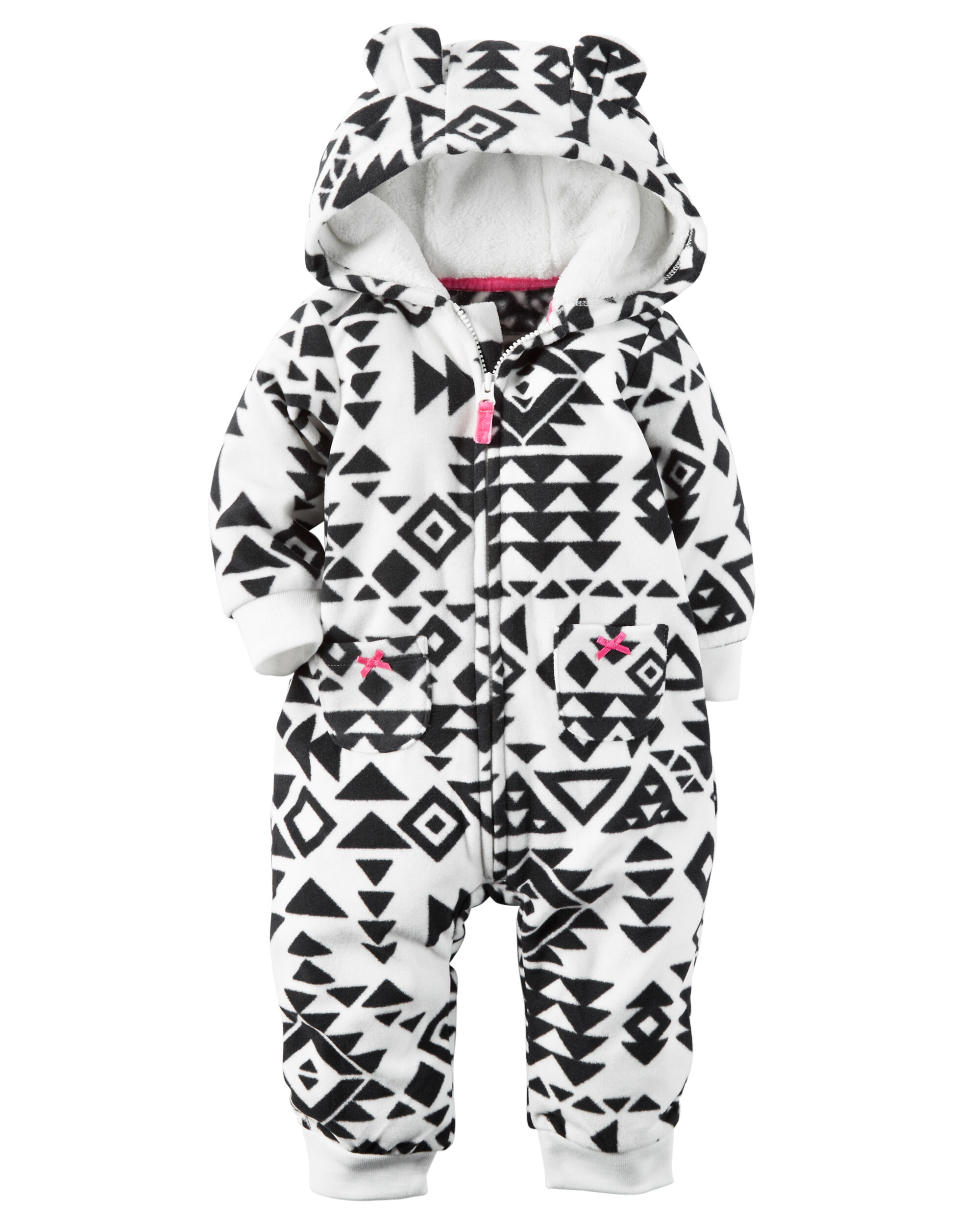 5f1b458d6dbb Carters hooded fleece jumpsuit months carters jpg 2000x2500 Baby girl hooded  fleece jumpsuit