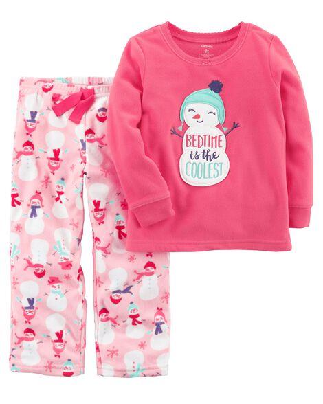 3f78cf5c200d 2-Piece Snowman Fleece PJs