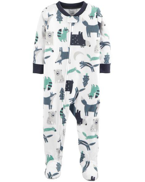 1490dfe6d 1-Piece Woodland Creatures Fleece PJs | Carters.com