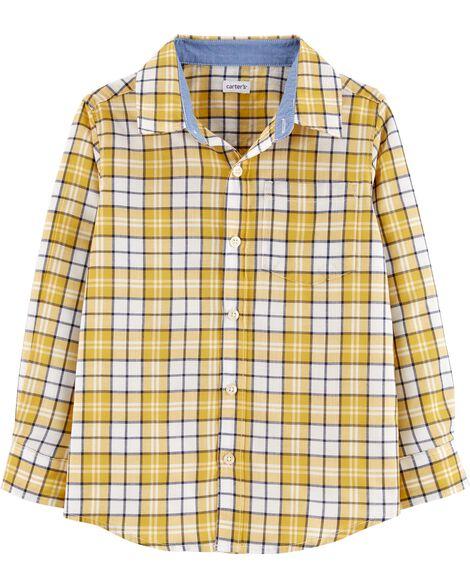 0bf0a46060d Plaid Button-Front Shirt | Carters.com