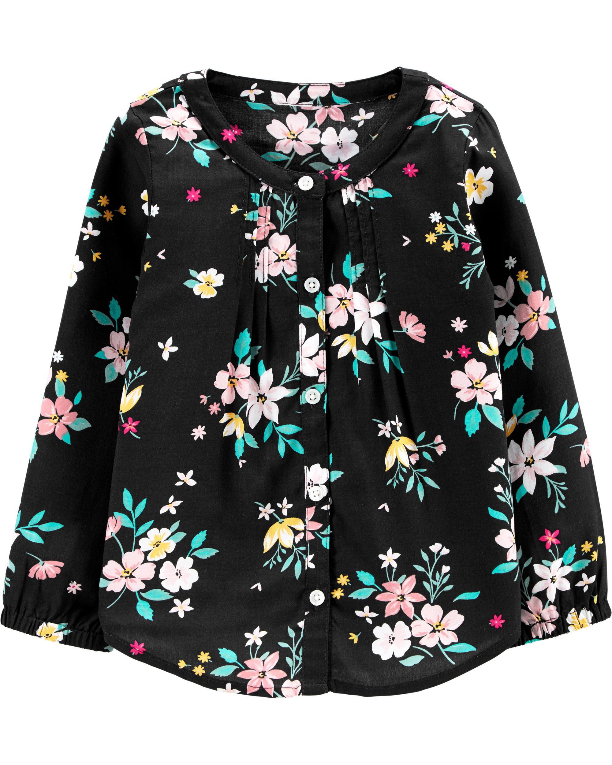 *CLEARANCE* Floral Poplin Top