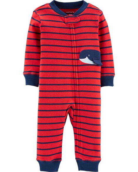 73ba4549bf26 Whale Zip-Up Footless Sleep   Play