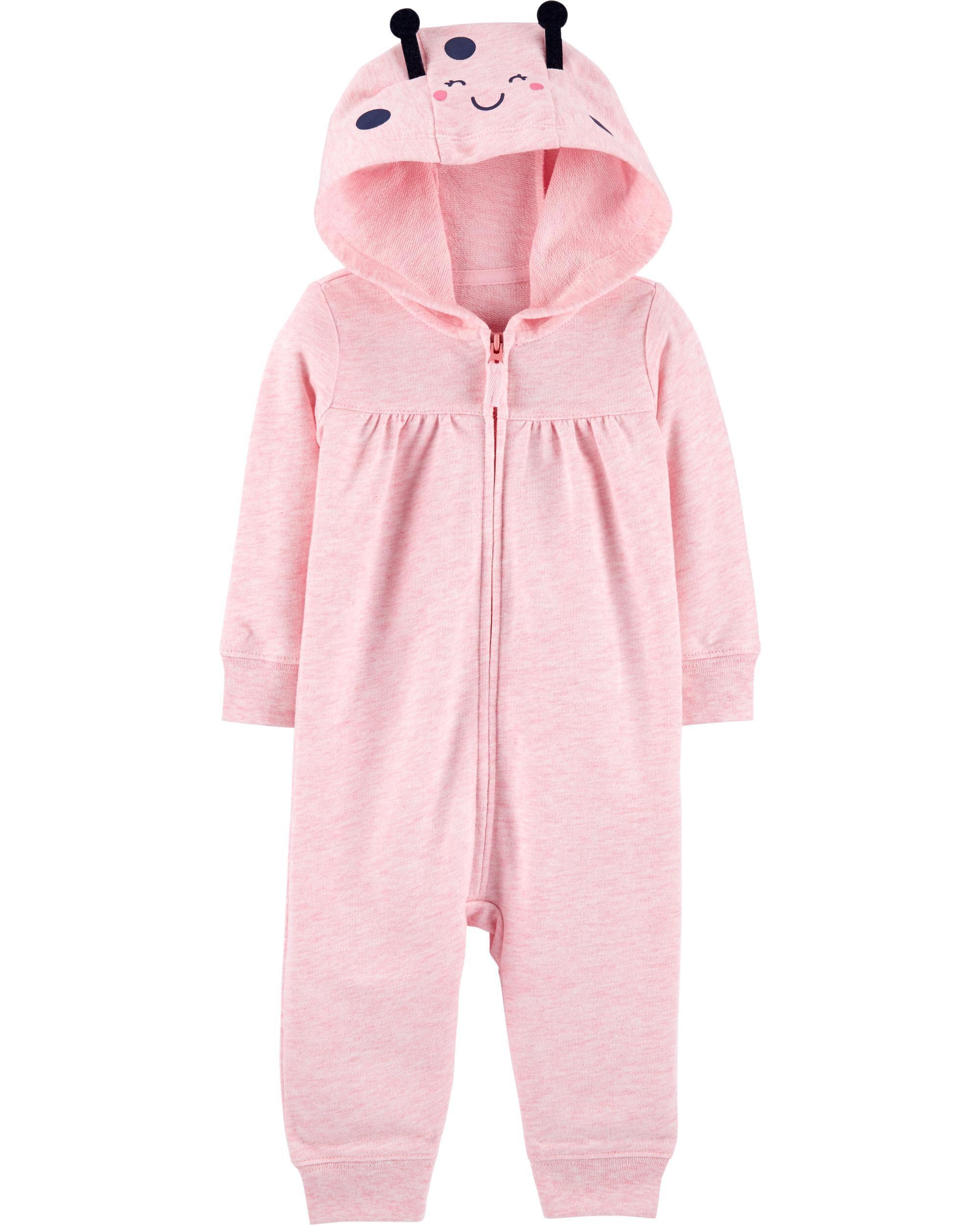 *CLEARANCE* Ladybug Hooded Zip-Up Jumpsuit