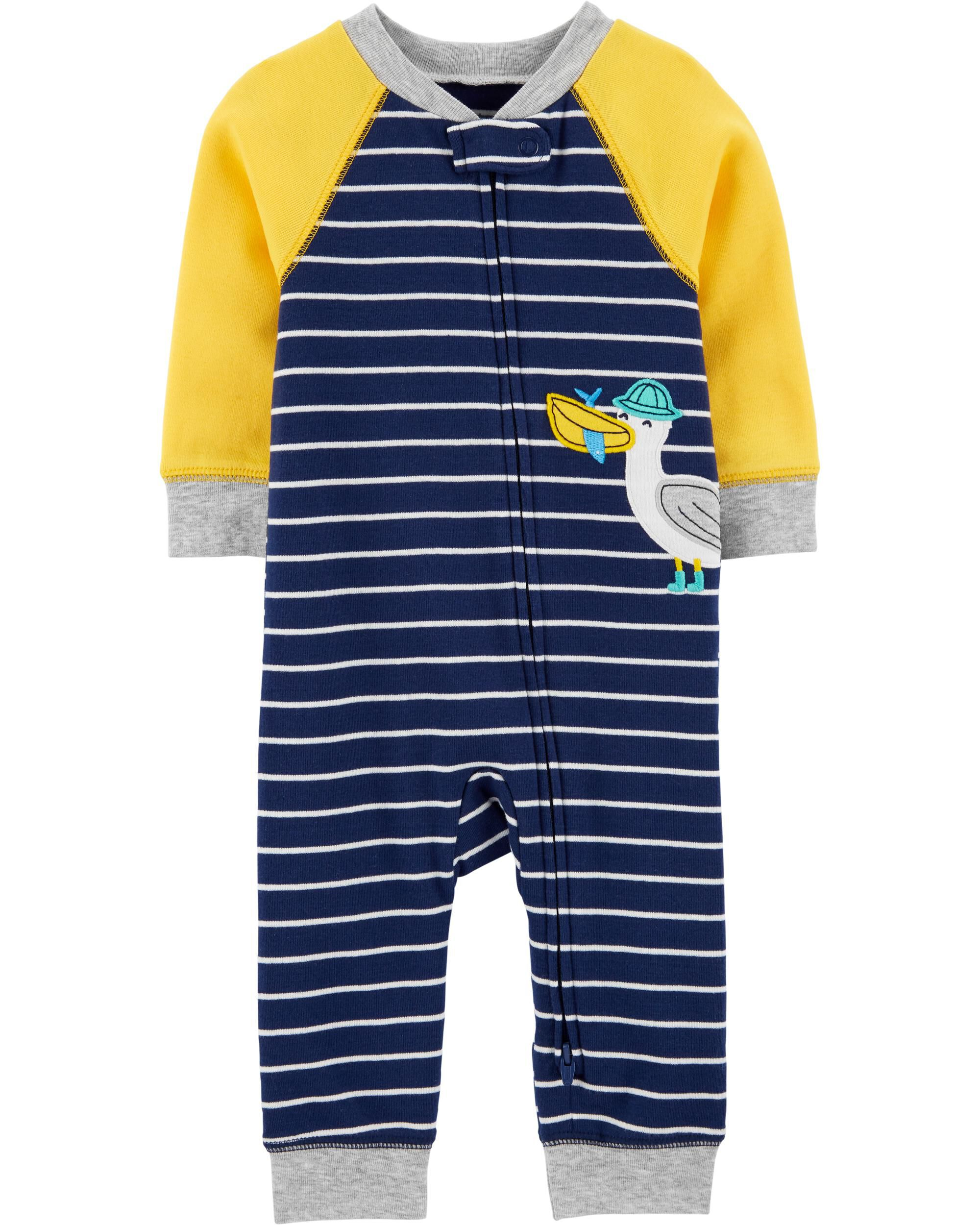 Seagull 2-Way Zip Cotton Sleep & Play