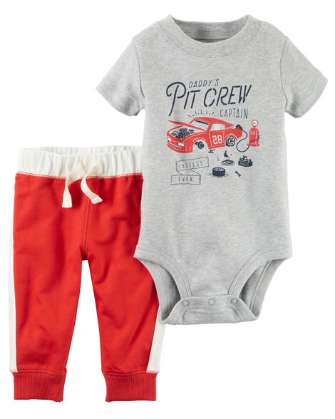 f1ec4d469701 2-Piece Bodysuit Pant Set