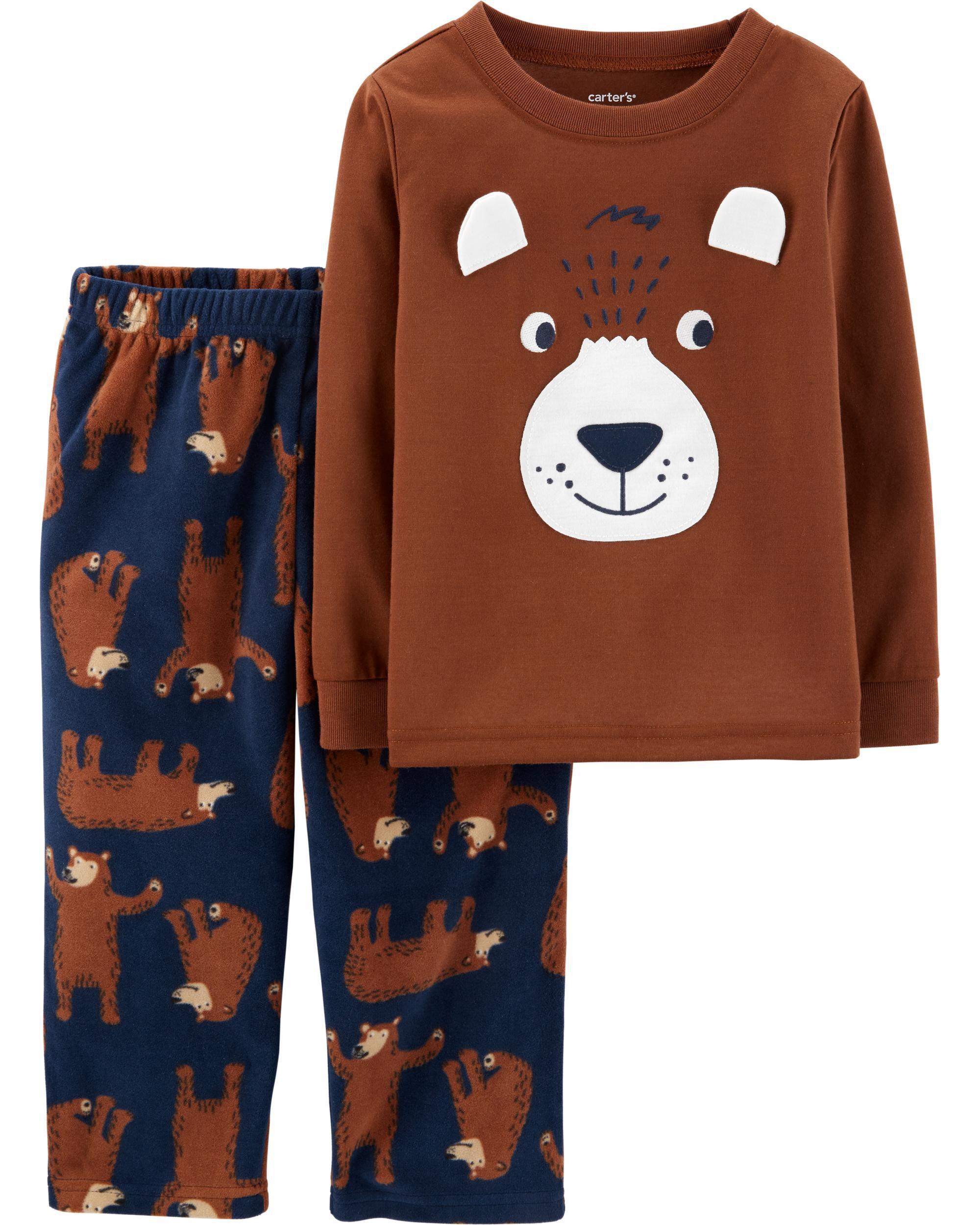 *CLEARANCE* 2-Piece Bear Fleece PJs