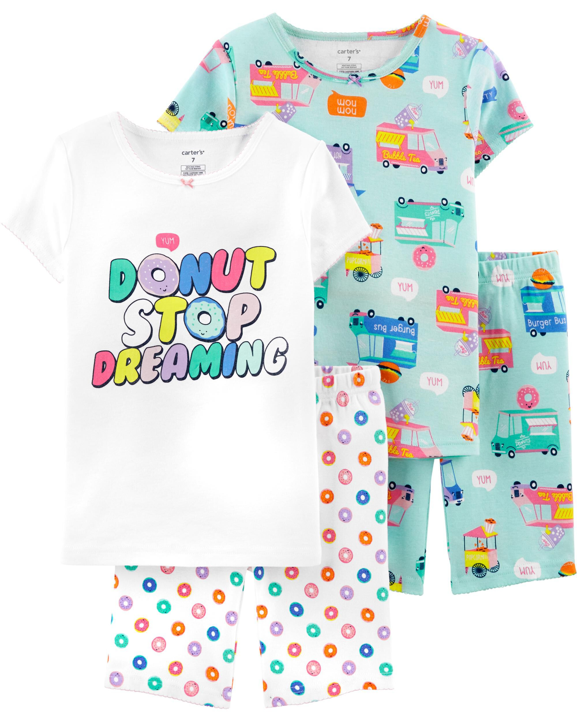 New Carters Toddler Girls I Love Movies And Sleepovers Fleece Pajama Set 3t Excellent Quality In