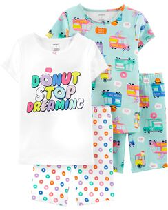 6133aaec9af 4-Piece Donuts Snug Fit Cotton PJs