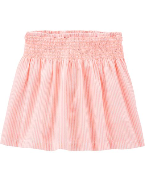 Striped Smocked Skort