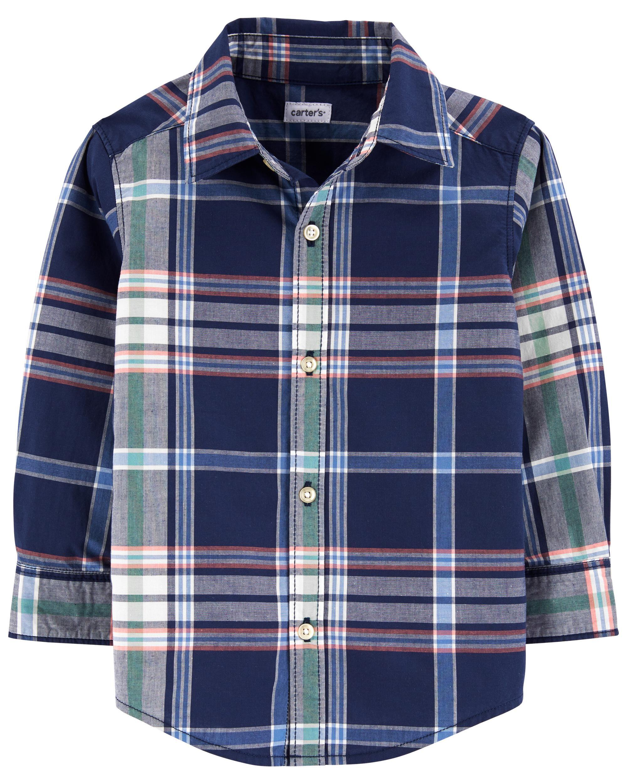 *DOORBUSTER* Plaid Button-Front Shirt