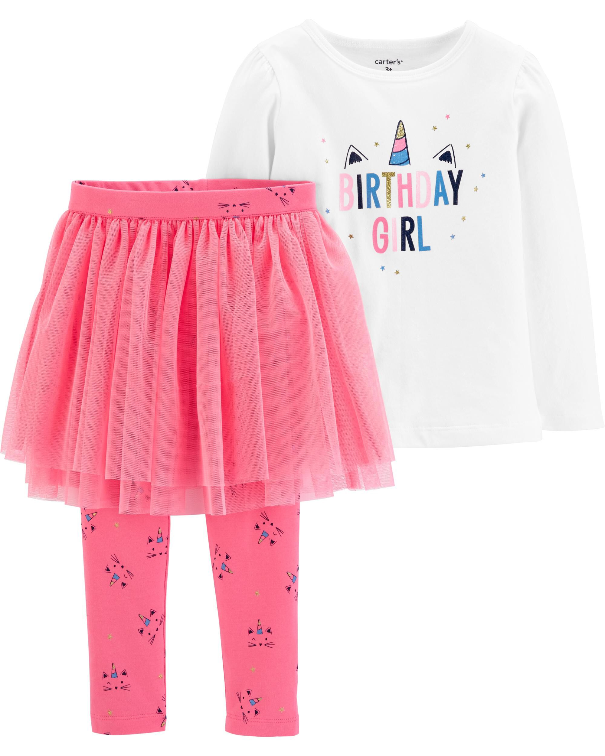 Girls Birthday Present Tutu Legging Set