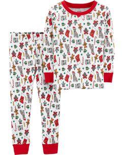 pajamas 2 piece kid christmas