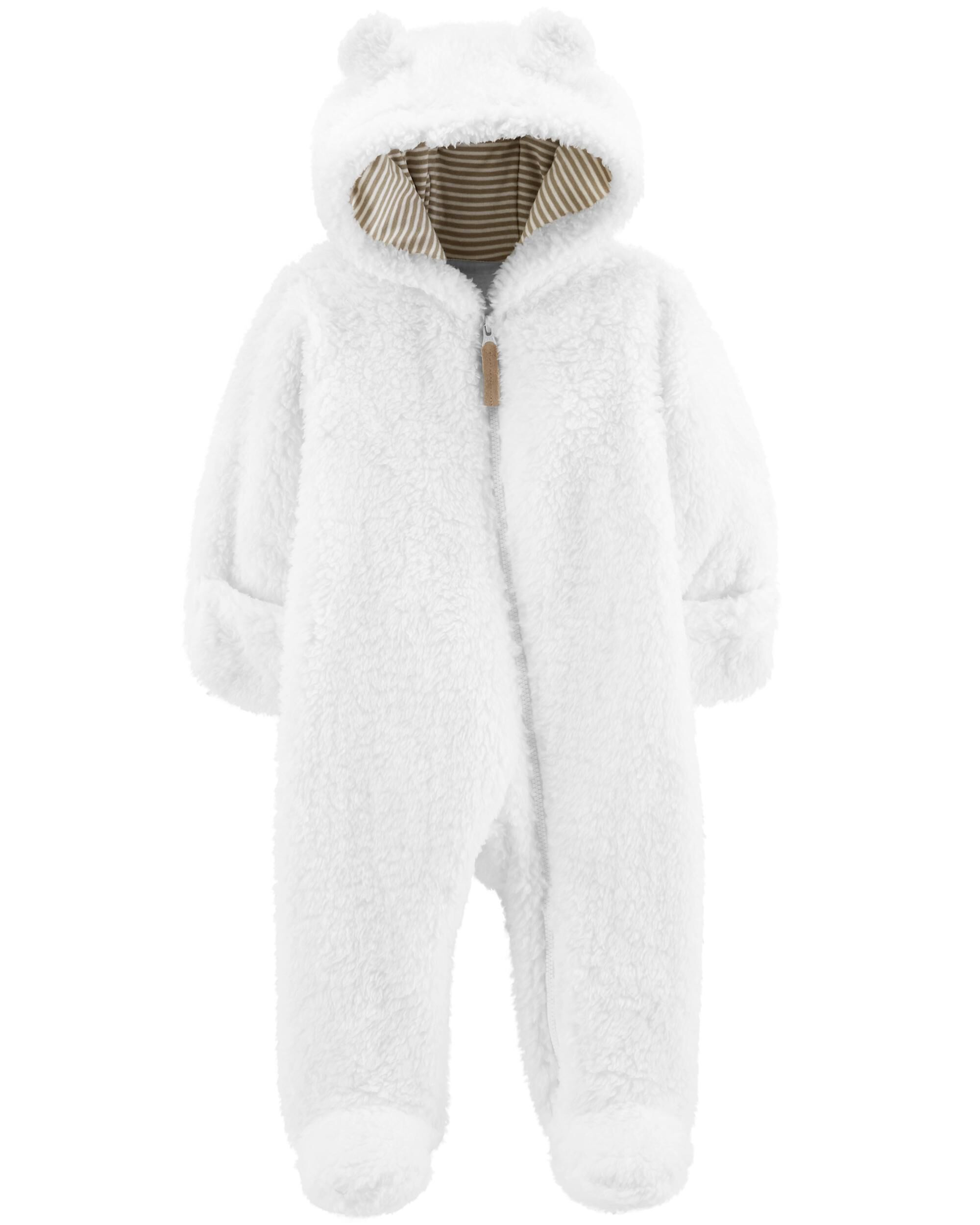 2ebbd8c7b Carters Baby Boys 3M-24M Hooded Sherpa Jacket Xmas