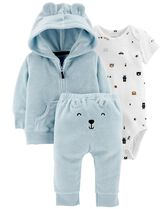 3-Piece Terry Little Jacket Set, Color, hi-res