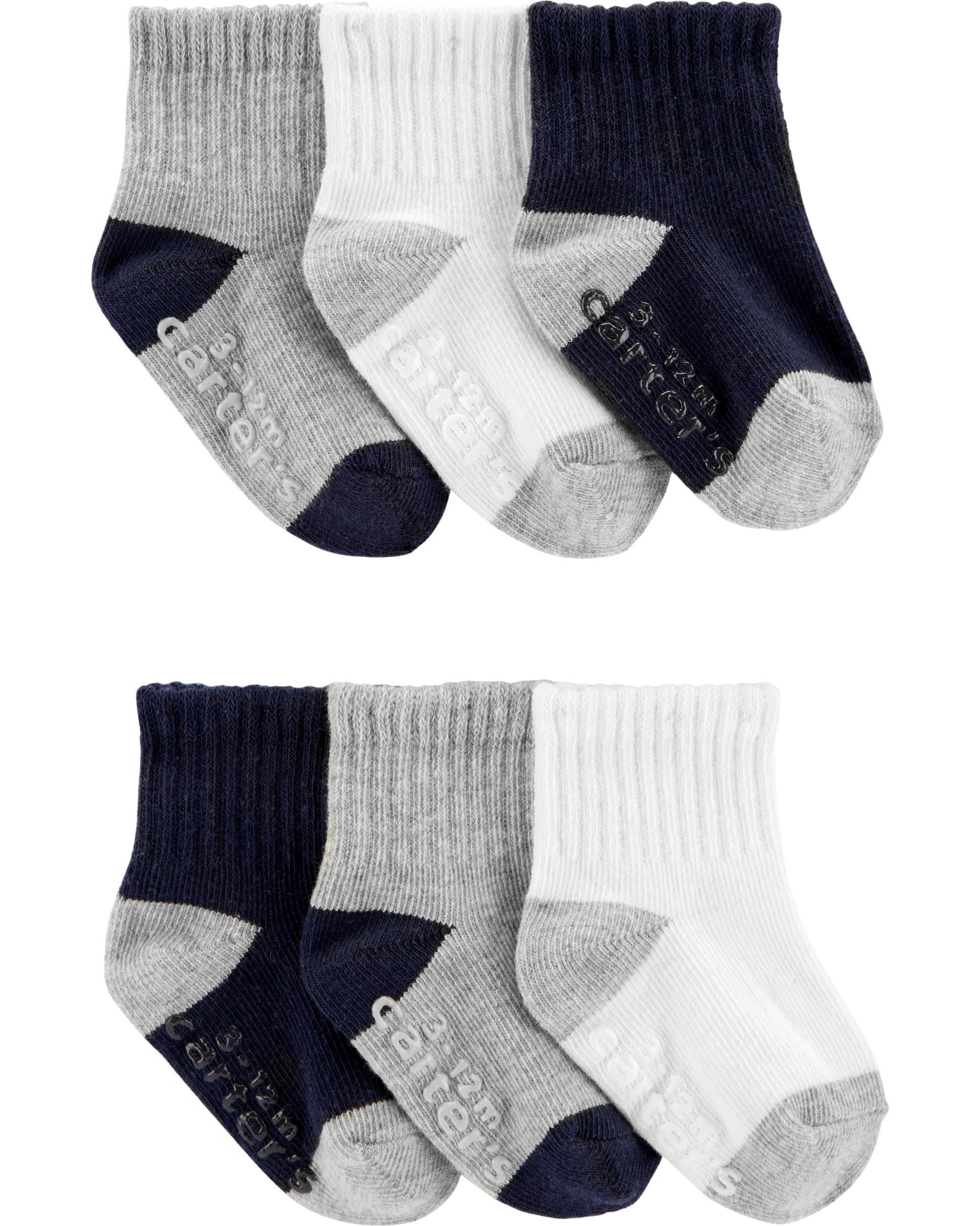 3 sizes Baby Boys Fun Zoo Animals cotton socks Pack of 6 Pairs