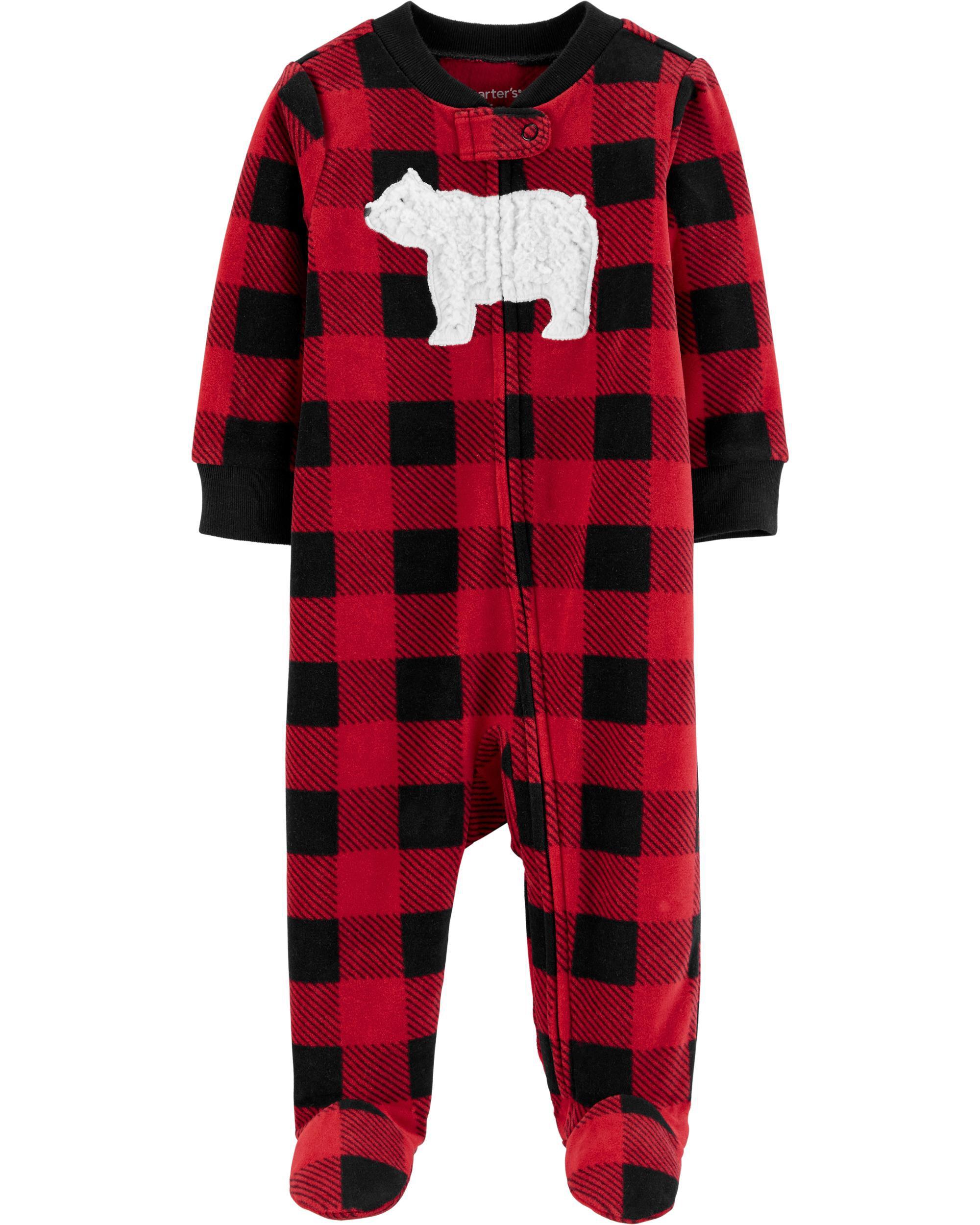 *DOORBUSTER* Buffalo Check Zip-Up Fleece Sleep & Play