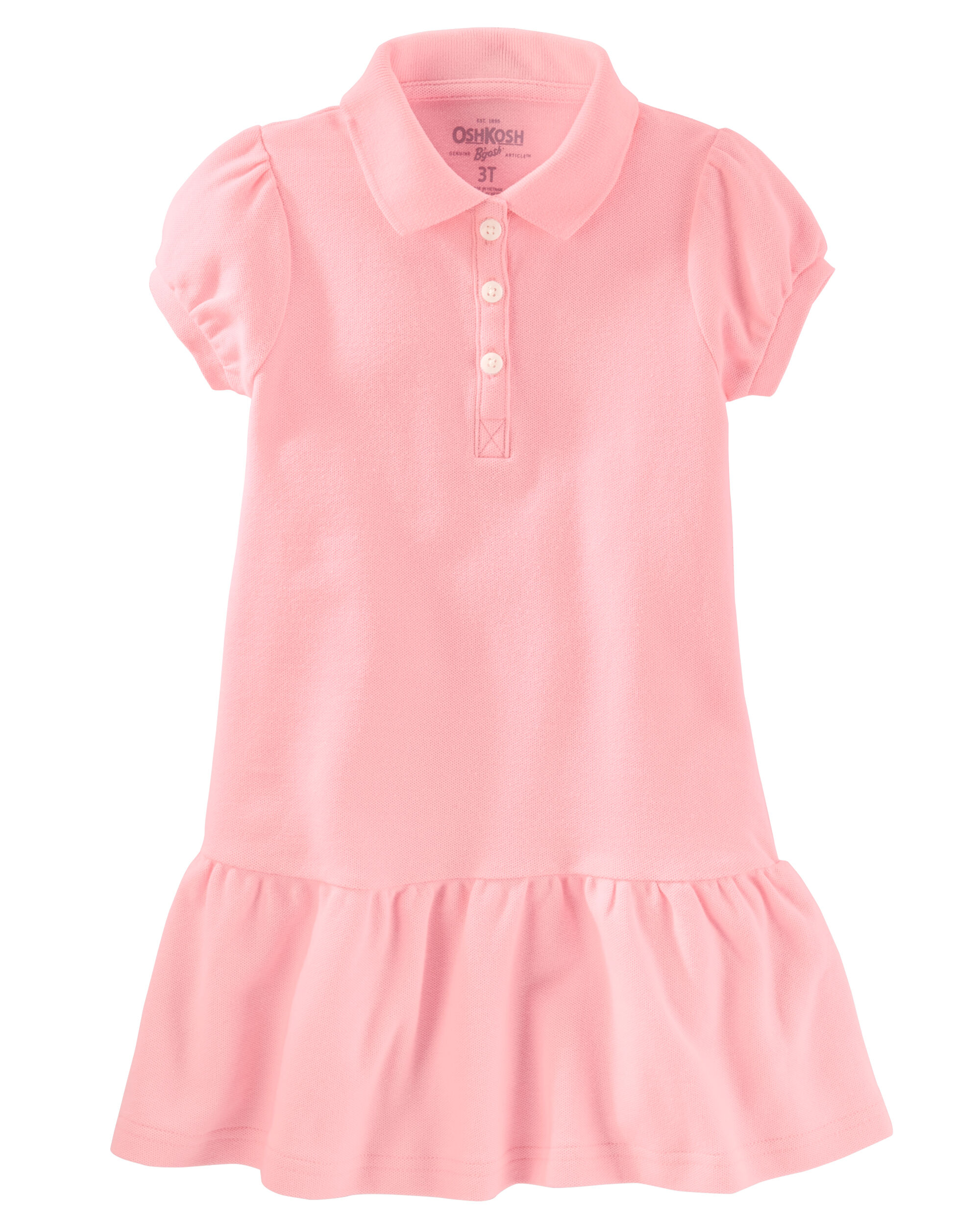 Baby Girl Piqué Polo Uniform Dress