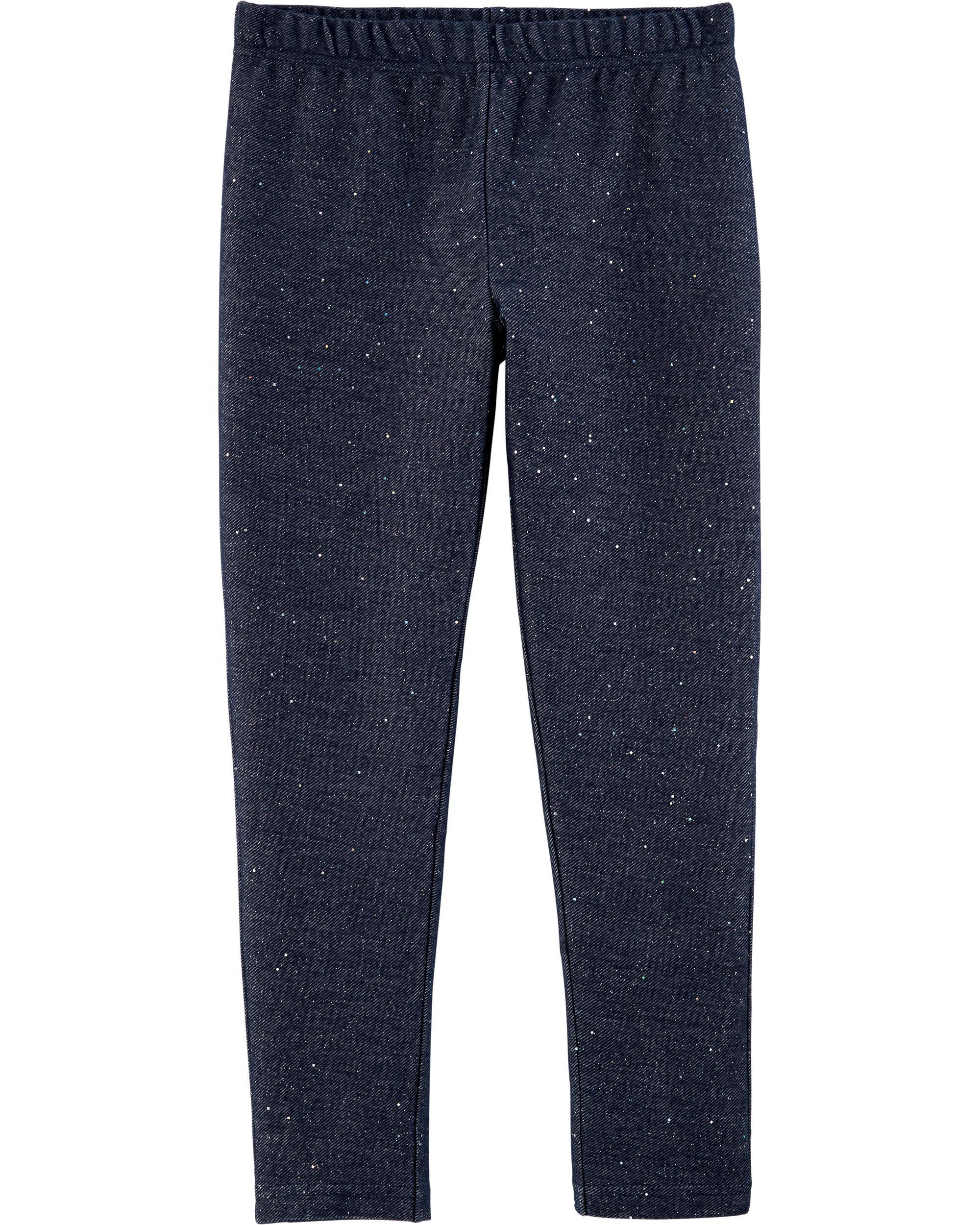 *CLEARANCE* Sparkly Knit Denim Leggings
