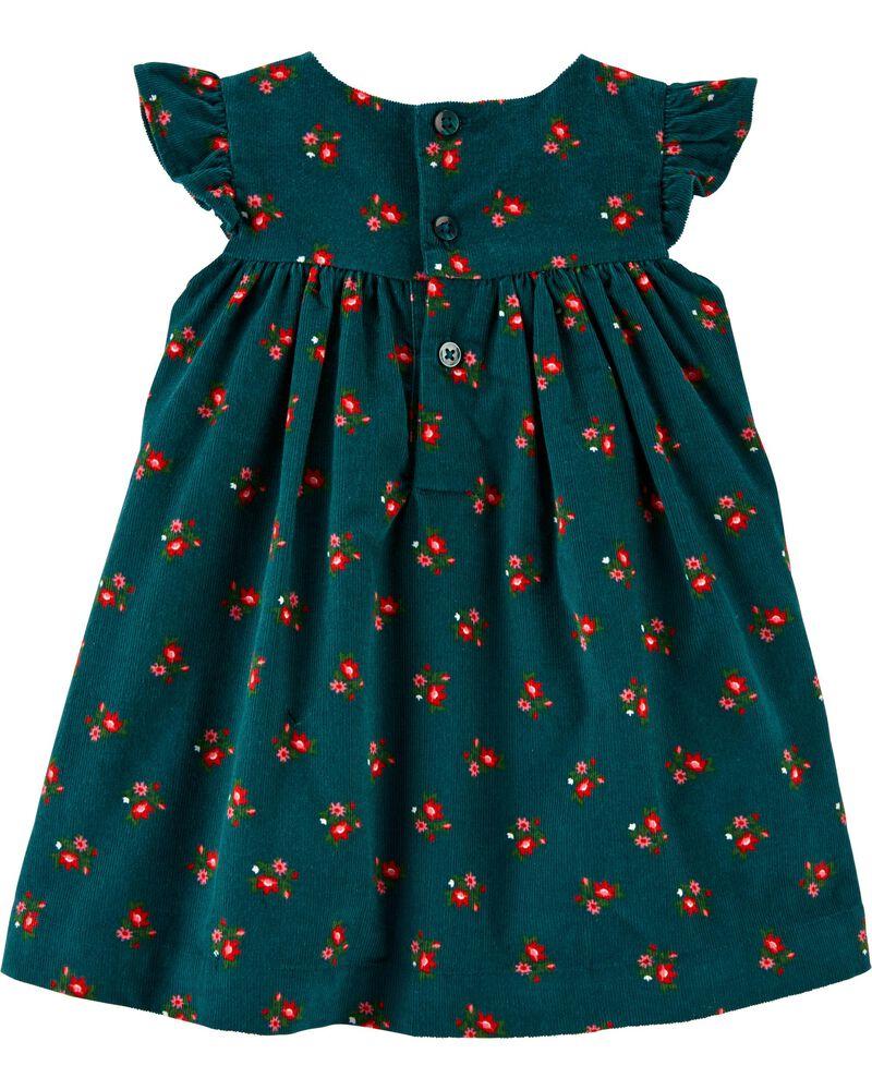 Monogram Fall Dress Green Corduroy Dress Blue Corduroy Dress Monogram Corduroy Dress Girls Monogram Dress Red Corduroy Dress