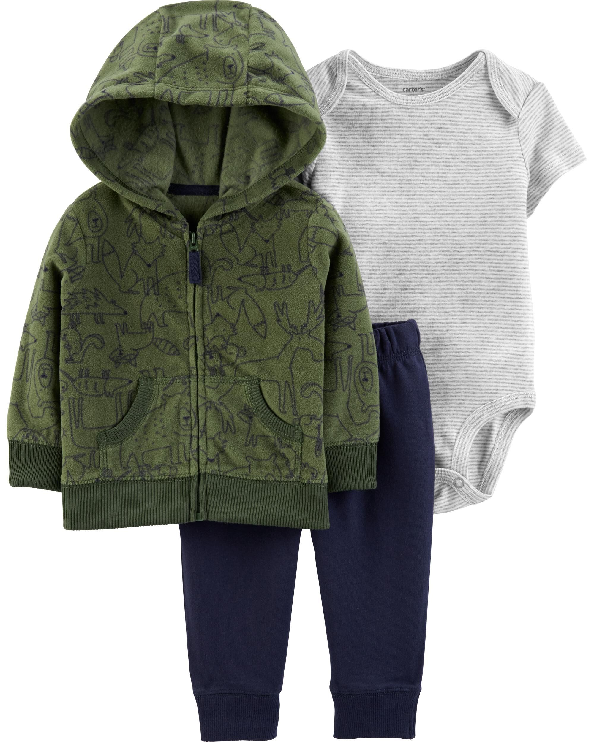 *CLEARANCE* 3-Piece Woodland Creatures Little Jacket Set