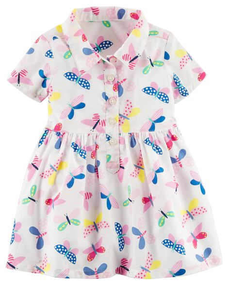 bd973764d2e1 Butterfly Poplin Shirt Dress