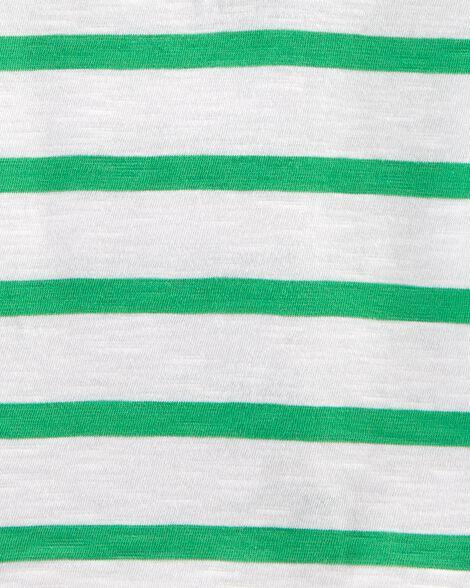 Striped Slub Jersey Polo