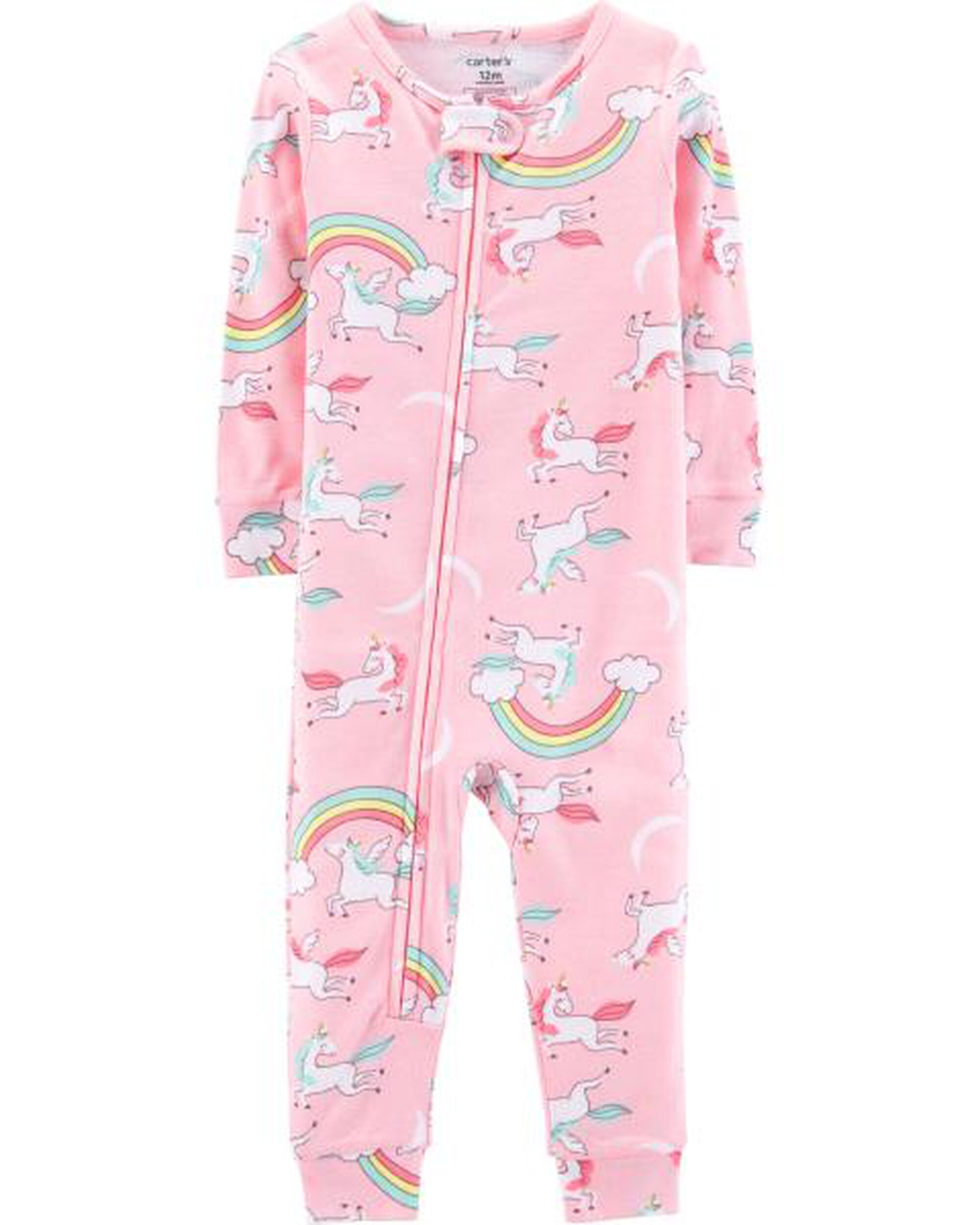 229dd0708e0f 1-Piece Unicorn Snug Fit Cotton Footless PJs
