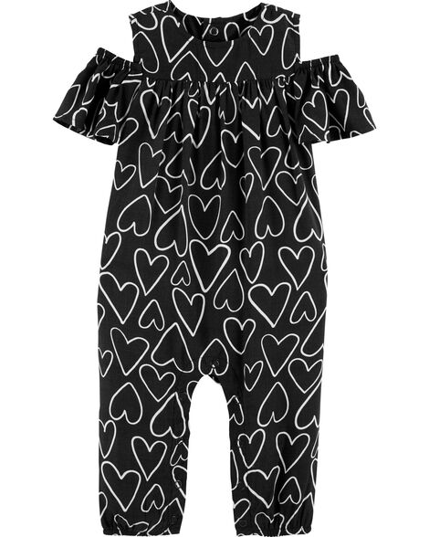 Heart Cold Shoulder Jumpsuit