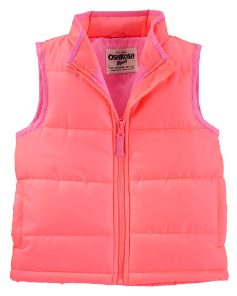 7477e762218e Kid Girl OshKosh Quilted Puffer Vest